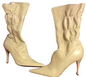 Nine West Ivory Leather Boots