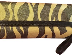 Charles by Charles David chocolate and gold Clutch
