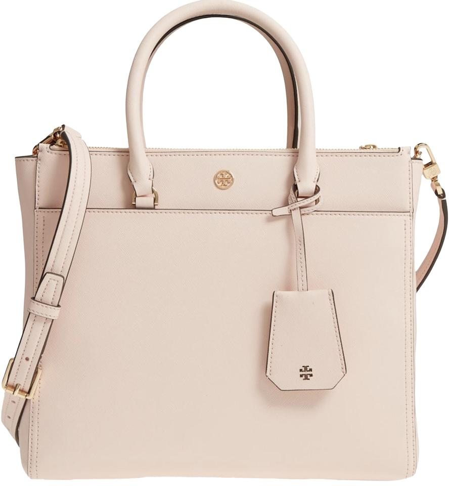 3c3af2634950 Tory Burch Robinson Double-zip Pale Apricot Leather Tote - Tradesy