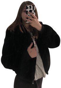 Brandy Melville Faux Bomber Fur Coat