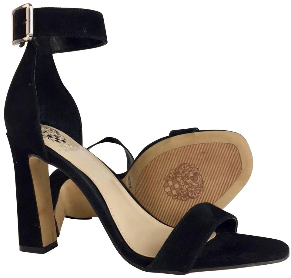 b9d963d91d33 Vince Camuto Black New Womens Acelyn Leather Open Toe Casual Ankle Strap  Sandals