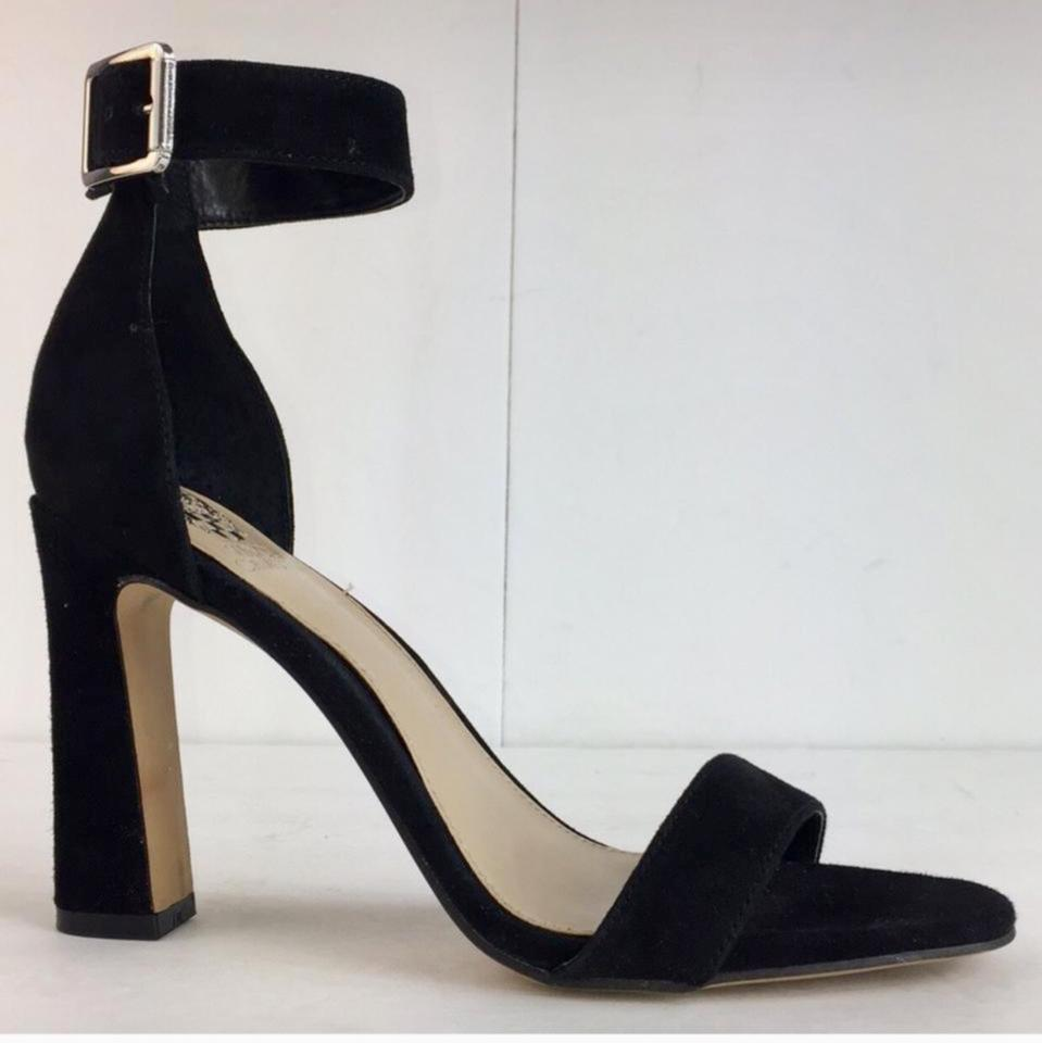 fa2e12d554a Vince Camuto Black New Womens Acelyn Leather Open Toe Casual Ankle Strap  Sandals. Size  US 8.5 Regular ...