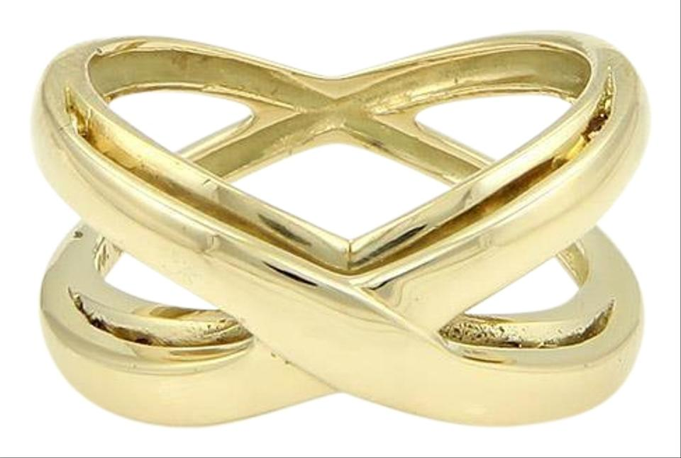 8c0bcbf78 Tiffany & Co. 18k Yellow Gold Reversible Double Crossover X design Ring  Image 0 ...