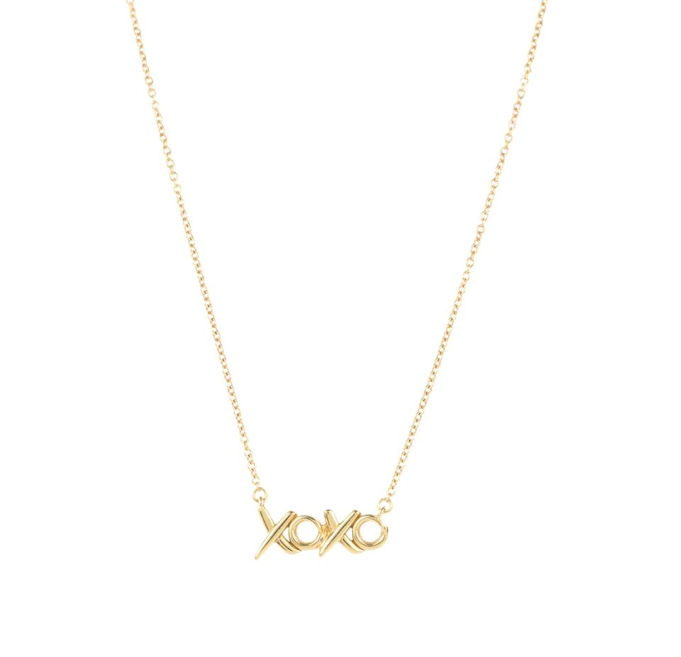 0102bc9b0 Tiffany & Co. Pink Rose Gold Paloma Picasso Hugs Kisses Necklace ...