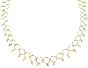 Tiffany & Co. 18k Yellow Gold Graduated Circle Bead Links Collar Necklace