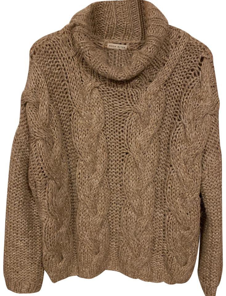 Cable Knit Tan and Gold Sweater - Tradesy ea8014b73