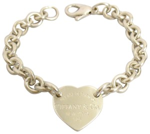 Tiffany & Co. Return To Heart Tag Chain Bracelet 925
