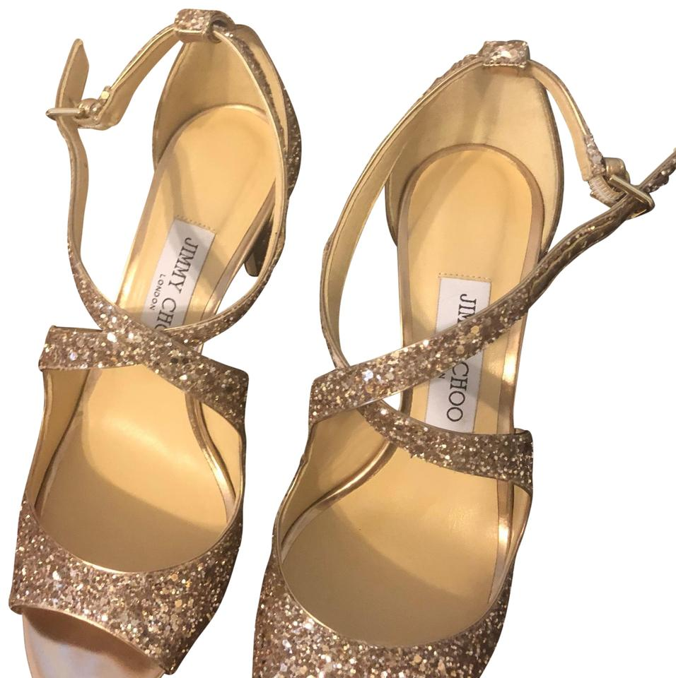 dca893a5482 Jimmy Choo Ballet Pink Glitter Emily 85 Formal Shoes Size US 7 ...