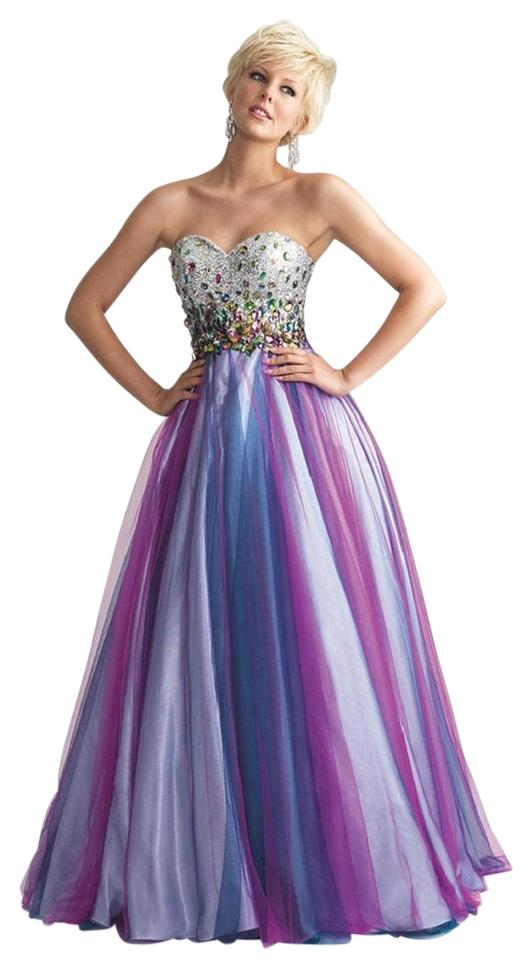 4140dd26dd0 MADISON JAMES Unicorn Multi 6653 Madison Long Formal Dress Size 4 (S ...