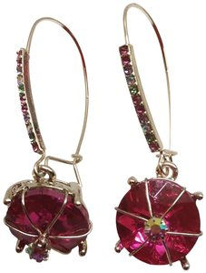 Betsey Johnson Betsey Johnson New Hot Pink Wire Earrings