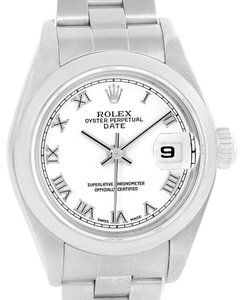 Rolex Rolex Date 26 White Dial Oyster Bracelet Ladies Watch 79160