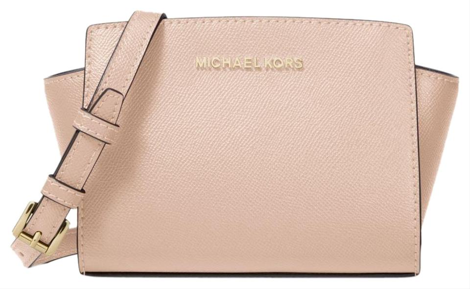 Michael Kors Selma Mini Saffiano 32h3glmc1l Pink Leather Cross Body ... 36e90d3c614b9
