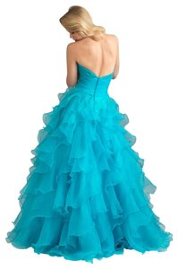 MADISON JAMES Prom Pageant Homecoming Ball Gown Ruffle Dress
