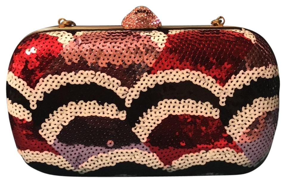d1b219cefb7 Gucci metallic red white pink and black multicolored Clutch Image 0 ...