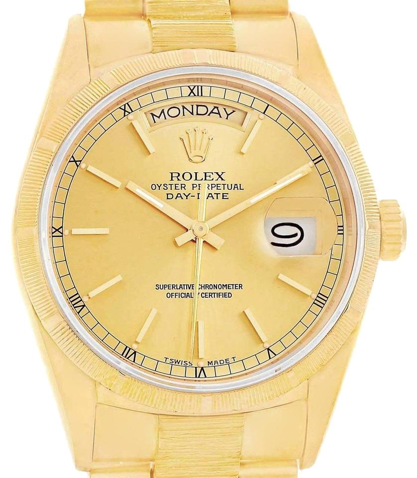 a230705f7df Rolex Rolex President Day-Date 36 Yellow Gold Bark Mens Watch 18078 Box  Image 0 ...