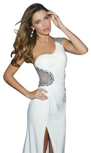 MADISON JAMES Prom Pageant Jersey One Shoulder Dress