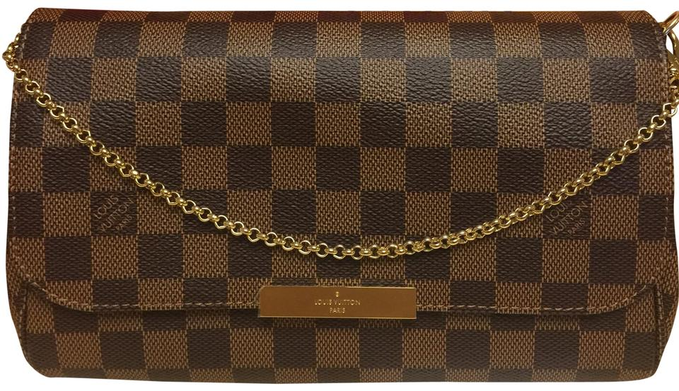 d66e382aed44 Louis Vuitton Favorite Mm Damier Ebene Canvas Cross Body Bag - Tradesy