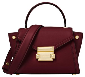 Michael Kors Leather 30t8gxim1l Satchel in Oxblood