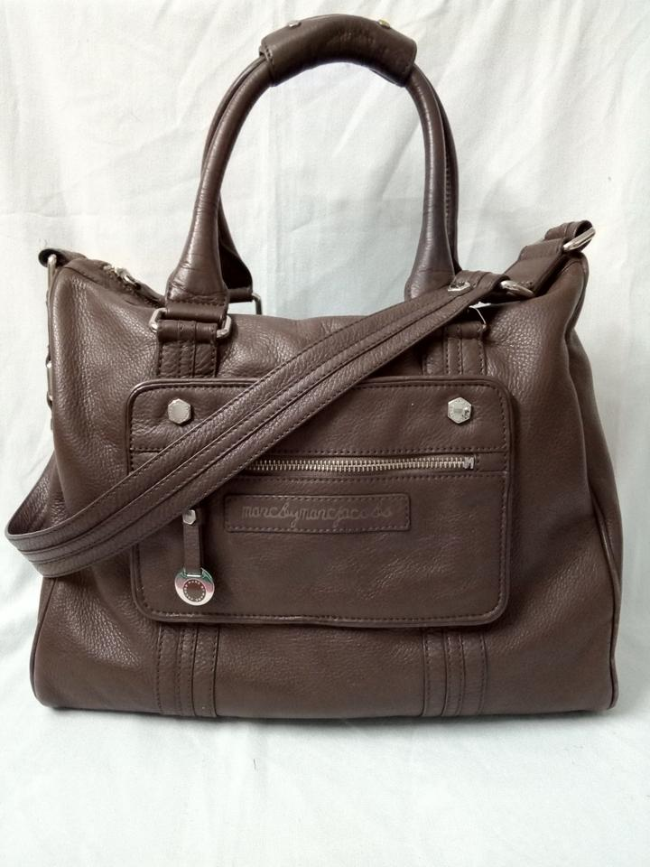 e0110b1cb7fa Marc by Marc Jacobs Cowleather Large Shoulder Handba Brown Leather ...