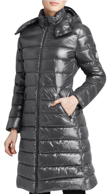 Item - Gray Moka Long Quilted Puffer Coat Size 8 (M)