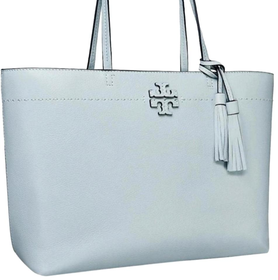 4022dc4648b Tory Burch Mcgraw In Seltzer Blue Leather Tote - Tradesy