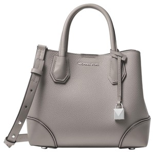953a6e39f252 Michael Kors Leather 30h7sz5t1t Satchel in Pearl Grey