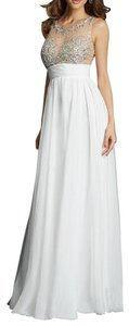 MADISON JAMES Prom Pageant Chiffon Beaded Dress