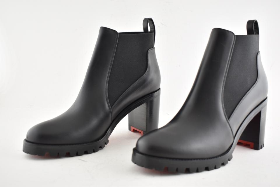 7c63912b5c4 Christian Louboutin Black Marchacroche 70 Calf Leather Ankle Heel  Boots/Booties Size EU 35 (Approx. US 5) Regular (M, B)