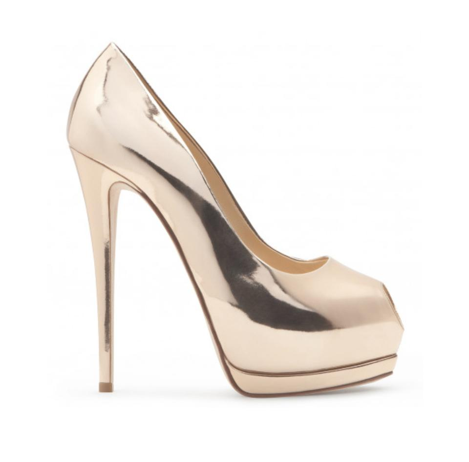 392875bc99079 Giuseppe Zanotti Mirror Gold 'sharon' Platform Pumps Size US 8.5 ...