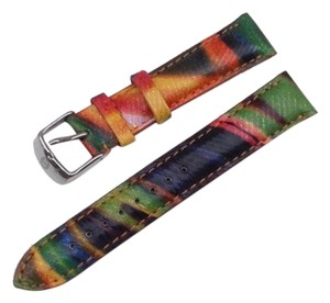 Michele Authentic MICHELE 18mm Calypso Leather Watch Band
