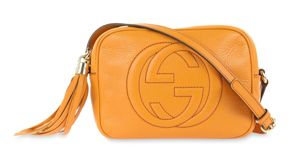 32682851b0f Gucci Soho Disco Orange Leather Shoulder Bag - Tradesy