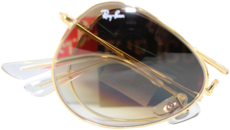 a6b364e5438 Ray-Ban Ray-ban Gold Brown Lens Rb3479 Folding Aviator   Gradient Sunglasses  ...