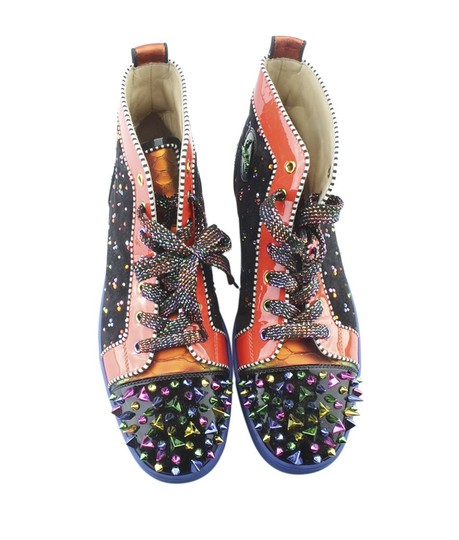 Christian Louboutin Sneakers Patent Leather Pre-owned Bottom Multi-Color Sandals