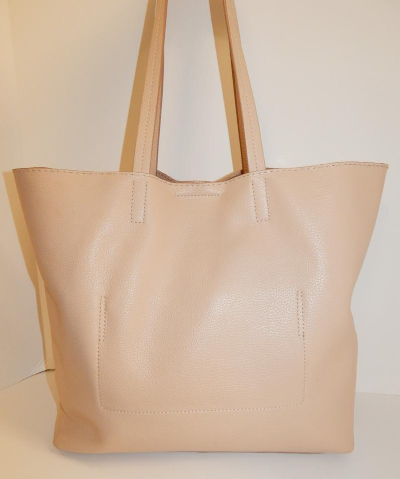 f147e7f153903 Banana Republic Pebbled North South Shoulder Nude Leather Tote - Tradesy