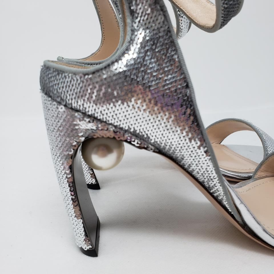 b1afc6a218feb Nicholas Kirkwood Pearl Hardware Sequin Ankle Strap Lola Silver Pumps Image  11. 123456789101112