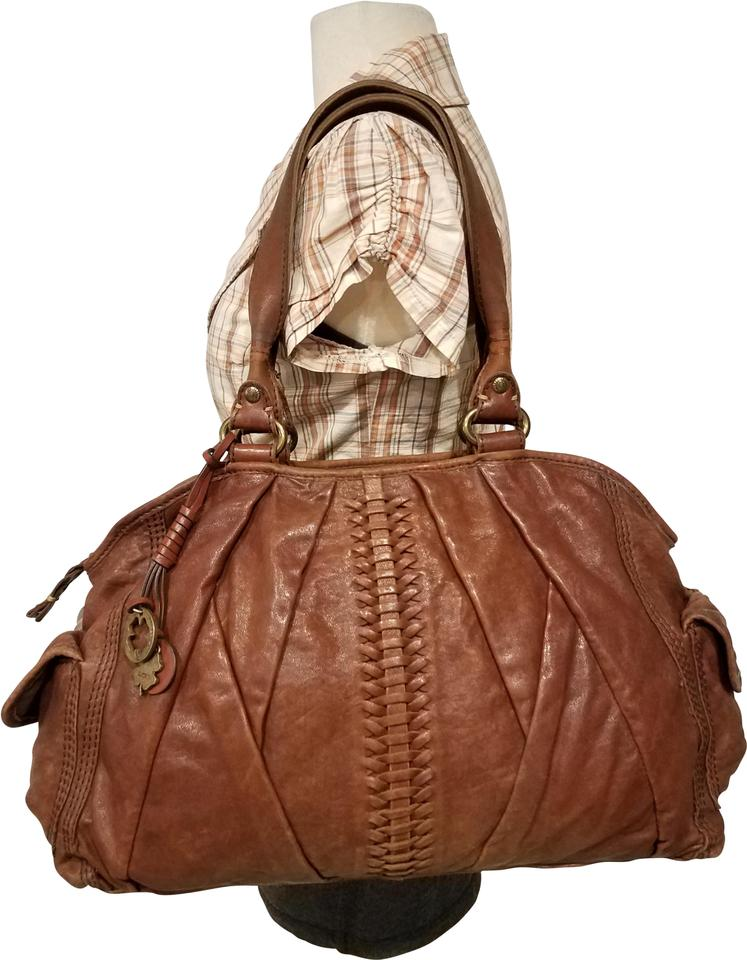 a67462a919 Lucky Brand Purse Shoulder Hand Brown Leather Hobo Bag - Tradesy