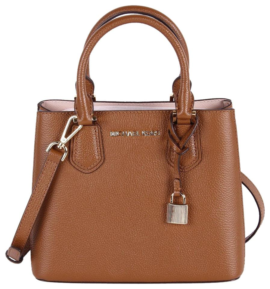 17fd7ac204b4 Michael Kors Messenger Bag Adele Medium Brown Leather Satchel - Tradesy