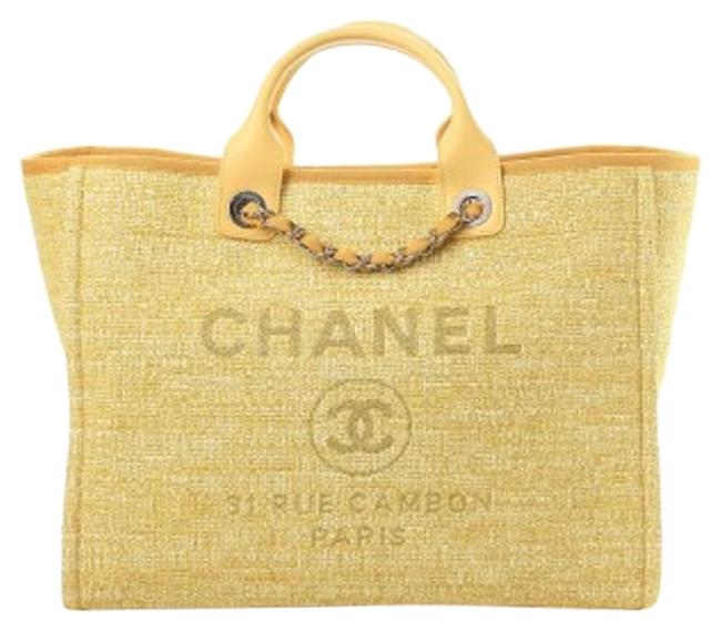 Item - Deauville Yellow Canvas Tote