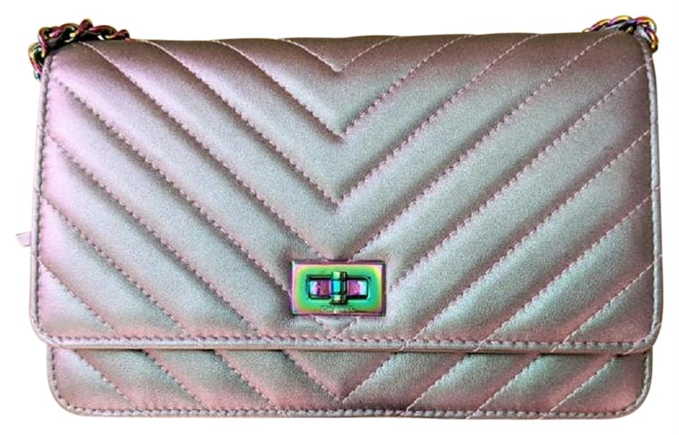66fa3c4980dc Chanel Wallet on Chain 2.55 Reissue Chevron Rainbow Iridescent ...