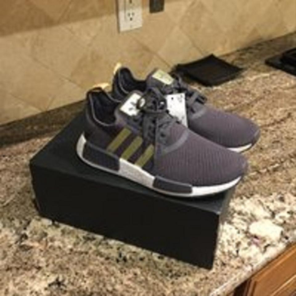 adidas Grey Gold Pyrite Nmd R1 Sneakers. Size  US 8 Regular (M ... bc3f8f2a2