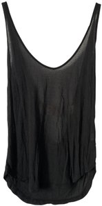 Brandy Melville Flowy Scoop Strappy Simple Top Black