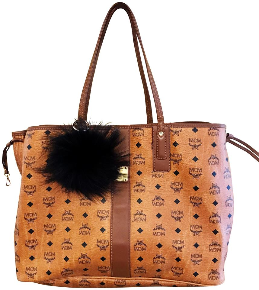 1d923295821e1 MCM Large Liz Reversible Visetos Tan and Black Leather Tote - Tradesy