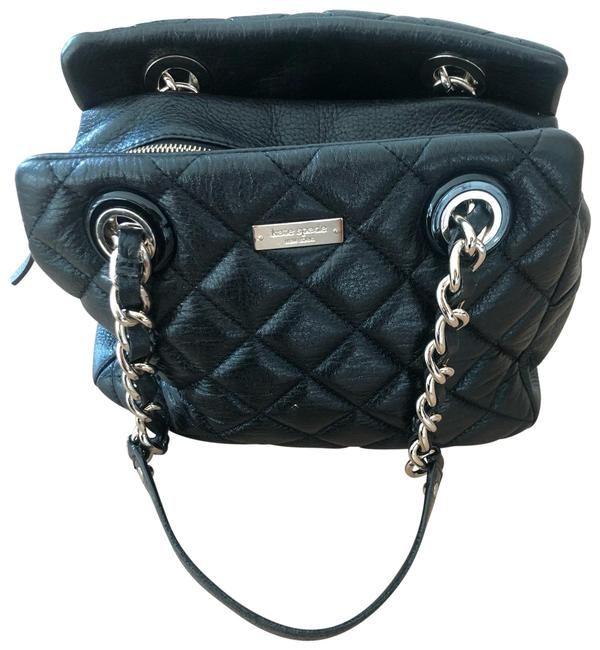 Item - Quilted Black with Soft Gold Chain Lambskin Leather Baguette
