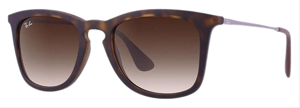 9e567dab302 Ray-Ban Dark Havana Rubber Frame   Brown Gradient Lens Rb4221 865 13 Square  Style Unisex Sunglasses
