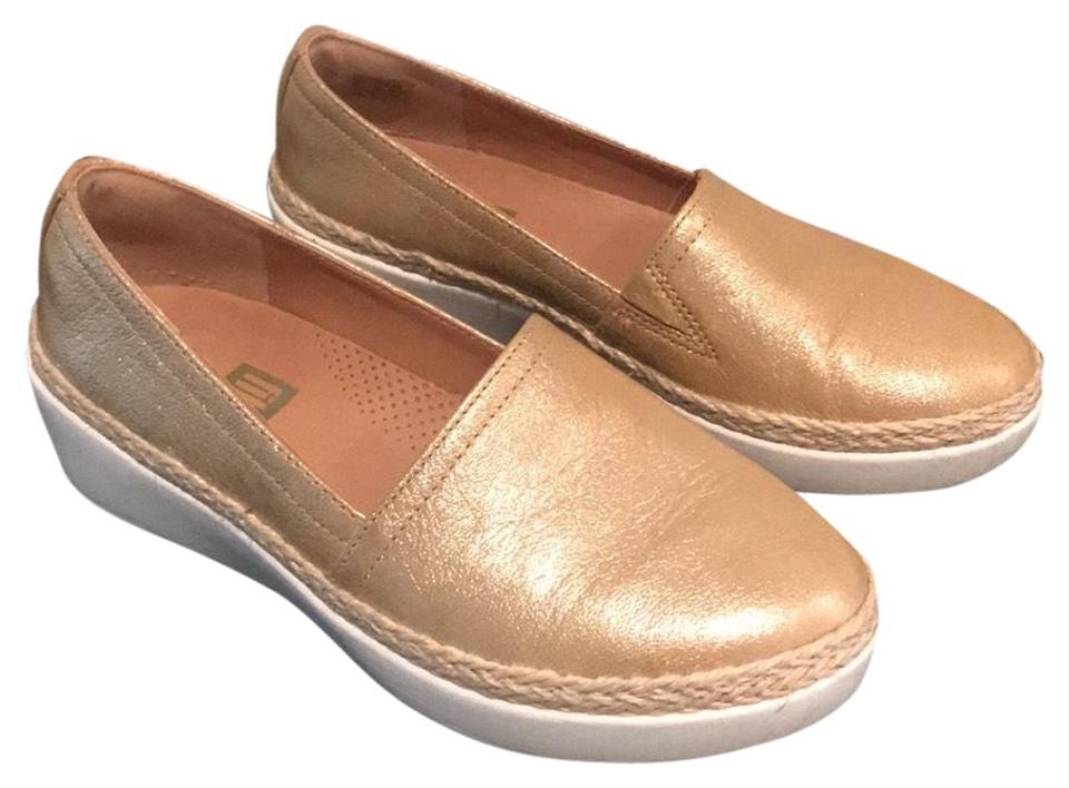 6be0e4929fe9 FitFlop Metallic Gold Leather Casa Loafer Flats Size US 5 Regular (M ...