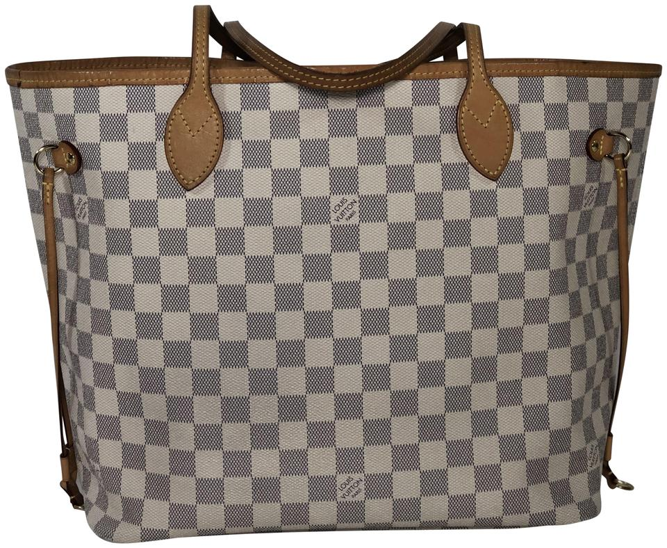 2fcbbfcd46da Louis Vuitton Lv Neverfull Neverfull Mm Damier Canvas Shoulder Tote in White  ...