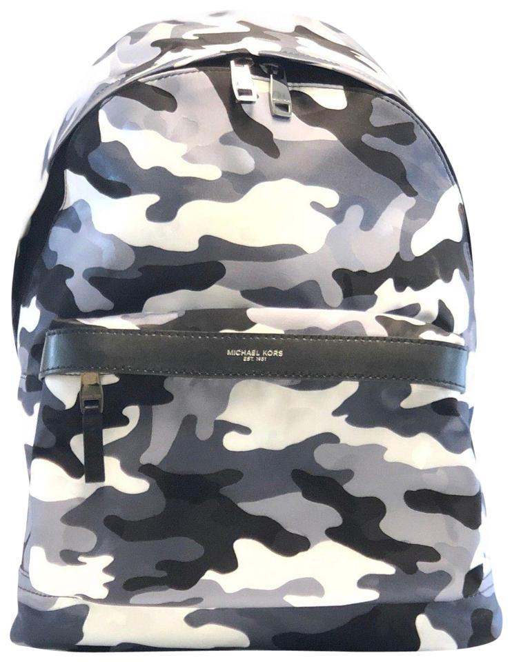 1a5dda6a3e41 Michael Kors Men s Kent Camouflage Black White Nylon Backpack - Tradesy
