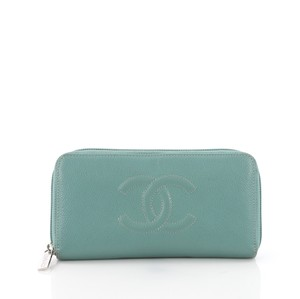 Chanel Wallet teal Clutch