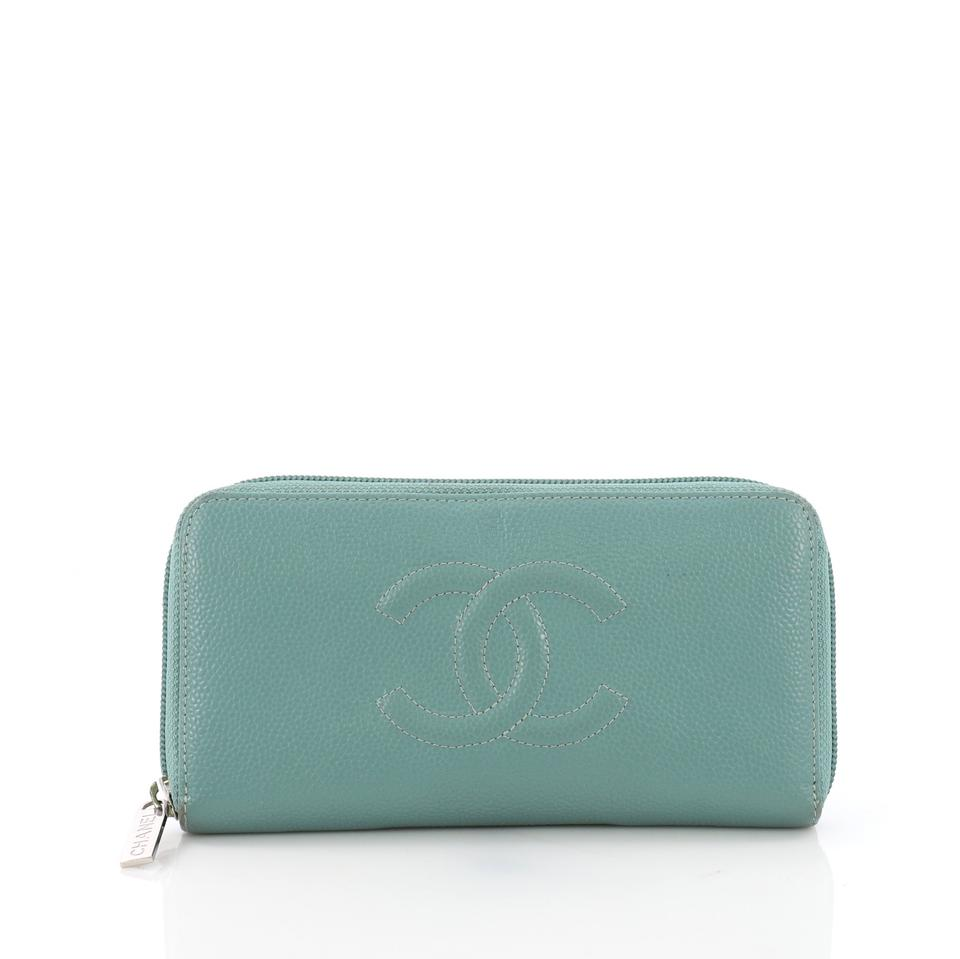984023037e1c Chanel Timeless Cc Zipped Wallet Caviar Long Teal Leather Clutch ...