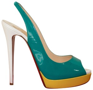 women s green christian louboutin shoes up to 90 off at tradesy rh tradesy com